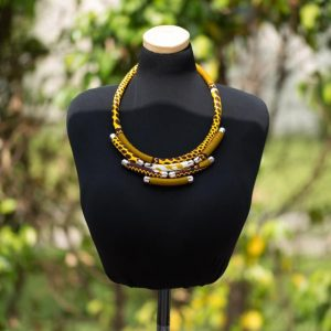 Nhyira's African print necklace for women
