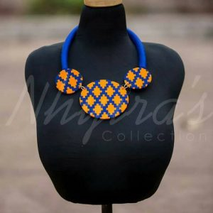 Nhyira's Beautiful African print necklace