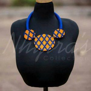 Nhyira's Beautiful African print necklace