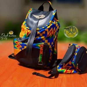 Eben African Print Back Pack